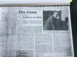 alter Zeitungsartikel Thema Flüchtlingsunterkunft Ehra-Lessien
